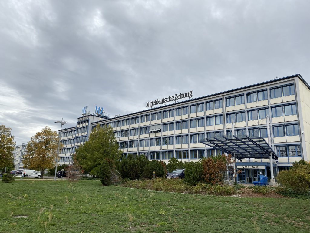 Die Mitteldeutsche Zeitung in Halle an der Saale